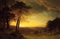 "Dream-art Oil painting nice landscape Sacramento River Valley in sunset art 36"""