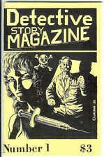 DETECTIVE STORY MAGAZINE #1, 1988, drugs, needle art, noir pulp digest crime mag