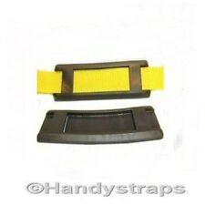 2 x 40mm Black Shoulder Pads for Webbing