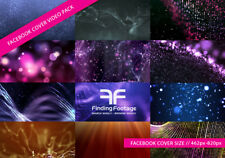 FaceBook Cover video Loop Animation Combo / 13 Clips / Facebook cover design