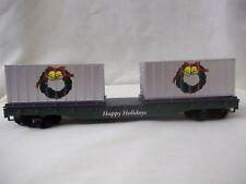 LIFE LIKE HO HOLIDAY RAILS CHRISTMAS TRAIN FLAT CAR W/ CONTIANER GOES W/ ATHEARN