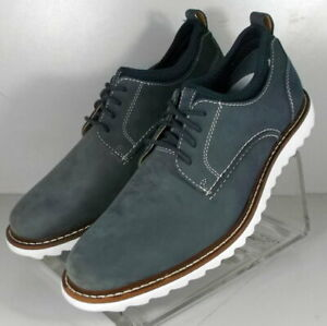 5910837 SD50 Men's Shoes Size 8 M Navy Leather Lace Up Johnston & Murphy