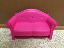 Barbie Doll Glam Vacation House Hot Pink Sofa Couch Living Room Furniture Decor
