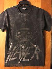 Slayer- Soldier Grey Skull- Black T-Shirt- Small
