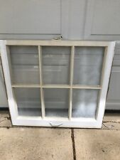 1 Vintage Window sash old 6 pane From 1940's 28 Width 25.25 Tall