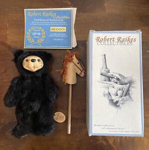 """""""Brandon """" Mohair Teddy Bear Robert Raikes Collectibles 199/750 W/Box"""