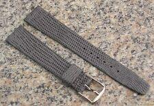 18mm STYLECRAFT Grey Java Lizard Grain Watch Band NOS Strap Made in Canada #496