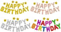 Self Inflating Large HAPPY BIRTHDAY Banner Balloon Bunting + Many FREE EXTRAS