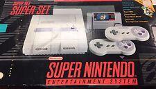 Super Nintendo SNES Set Console System Box Super Mario World Complete in Box CIB