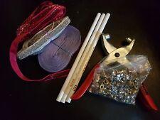 Craft Job Lot-Cordon cuir, ruban, perles, Clous Shamballa cordon, Riveter