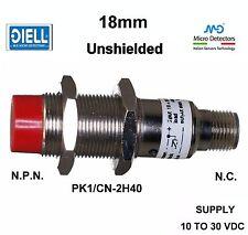 DIELL Micro Detectors PK1/CN-2H40 10-30 Vdc Unshielded N.C. N.P.N. 18mm