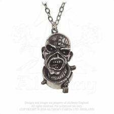 ALCHEMY ROCKS - IRON MAIDEN - PIECE OF MIND EDDIE PEWTER PENDANT METAL