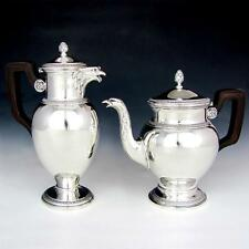 Boin-Taburet French Sterling Silver Empire Teapot & Coffee Pot Eagle Head Spout