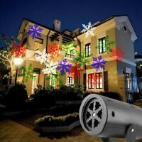 Outdoor Moving Snowflake LED Laser Lights Projector Landscape Xmas Garden Lamps