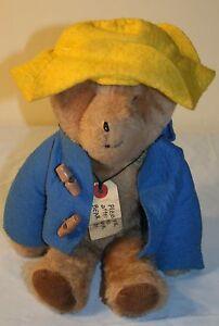 "Vtg Paddington Bear Eden Plush Toy Stuffed Animal 13"" Tags Peru Coat Hat"