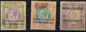 Bechuanaland KGV 1902 Protectorate Revenue Selection VFU
