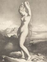CHASSERIAU FRENCH VENUS ANADYOMENE OLD ART PAINTING POSTER BB6459A