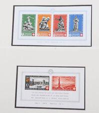 Schweiz 1938 bis 1959 Sammlung mit teuren Blocks, PAX Serie **, Zusammendrucke