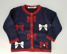 Girl's Toddler Knitted Bow Cardigan 12-18 Months
