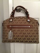 Michael Kors Calista Large Satchel Handbag/Luggage-Brown/$398/NWT