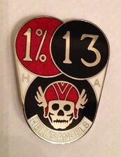 1980's Motorcycle club enamel pin badge Hells angels 1%er Skull motor bike Biker