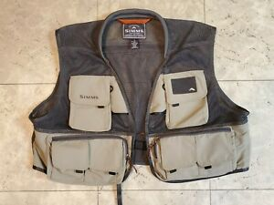 Simms Headwaters Pro Mesh Fly Fishing Vest Sz XXL Tan Wading Angling