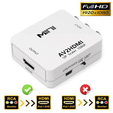 1080P 3RCA to HDMI Converter For PC Laptop Xbox PS4 PS3 STB VHS VCR Camera DVD