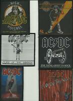 AC/DC bunch of 6 top sellers WOVEN SEW ON PATCHES official ANGUS YOUNG no.3