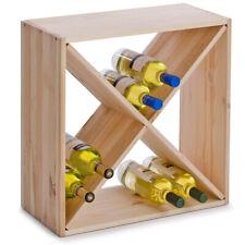 Casier À bouteilles de vin Cube Croix bois Zeller