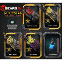 Gears 5 Rockstar Exclusive DLC Lancer Skin Code Xbox One