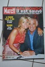 Paris Match n° 2769 du 20 juin 2002 - Jean-Paul Belmondo est sauvé