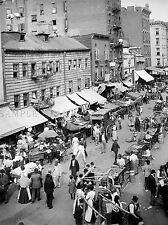 JEWISH MARKET EAST SIDE NEW YORK VINTAGE OLD BW PHOTO PRINT POSTER ART 1108BWLV