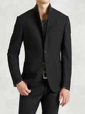 Button Wool Collared Hip Length Coats & Jackets for Men