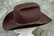-- American Hat Company Cowboy Hat Size 7-1/8 Brown