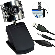 Webcam Web cam CMOS 6 led Camara web con Micrófono USB 2.0 para PC 360º giro