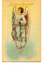 Pretty Angel Drawing-Religious Joyous Easter Greeting Holiday Vintage Postcard