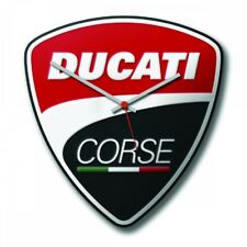 DUCATI Corse Power Wanduhr Uhr Watch Wall Clock schwarz rot NEU 2019 !!