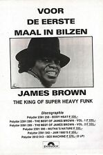 JAMES BROWN Bilzen Festival '78 ADVERT/Poster10x8 inches Joepie magazine Belgium