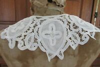 Stunning Antique French Handmade Tape Lace Lawn Cotton Collar c1910