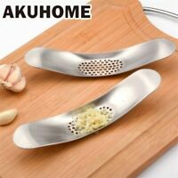 Garlic Press Crusher Stainless Steel Ginger Squeezer Grinder Kitchen Chopper