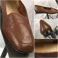 Enzo Angiolini Pumps Heels Size 7 N Brown Leather Made in Italy Mint G