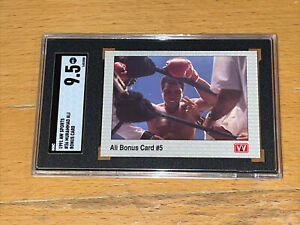 1991 AW Sports Boxing SGC 9.5 #36 Muhammad Ali Cassius Clay GOAT