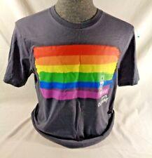 Old Navy Unisex 2012 Pride t shirt Medium Rainbow Graphic Tee Gray Classic Crew