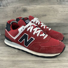 NEW BALANCE 574 Men's Size 10 Shoes ML574VRK Red White Black Running Sneakers