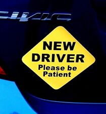 """(1) NEW DRIVER """"Please Be Patient"""" Magnetic Sign 5"""" x 5"""" for Student Driver"""