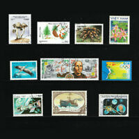 10Pcs Different Countries Postage Stamp For Collection Souvenir Sheets Crafts