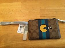 COACH x PACMAN Limited Edition Corner Zip Wristlet Wallet