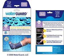 Waterproof LONG LEG Cast Cover Water Protector for Shower, Reusable Bandage 2pk