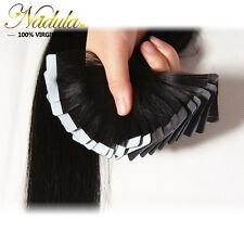 20PCS Seamless Skin Weft PU Tape in 100%Remy Hair Extensions Straight Human Hair