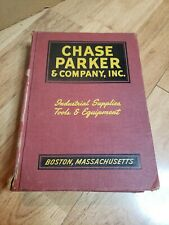 1946 CHASE PARKER & CO CATALOG BOSTON tool hardware marine industrial